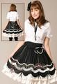 Lolita robe / vêtement de couleur noire et blanche et style sur mesure