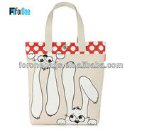 Custom Lovely Dog Wholesales Shopping Tote Bag