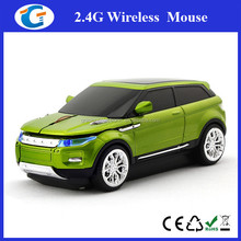2.4GHz Car Style Wireless Optical Mouse with USB Mini Receiver