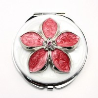 popular floral pocket mirror fashion flexible floral pocket mirrorHQCM290215