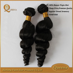 Qingdao Port Fast Delivery full end double drawn 2015 Hot high quality virgin brazilian ocean tropic loose hair