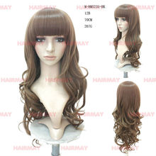 wig fashion long hear resitant fibr