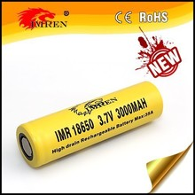 High capacity 18650 IMREN 18650 3000mAh 35a 3.7V Rechargeable Battery Cell ncm 18650