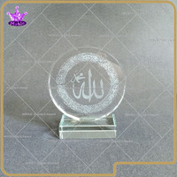 Noble New Design Ayat-Al Kursi Crystal Islamic Gifts Crystal Arabic Wedding Gifts engraving free on base