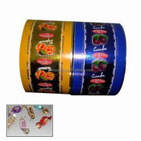 colored printed plastic BOPP film for candy