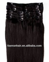 High grade 7a virgin hair Elegant clip in hair extensions for black women New hair product made in China