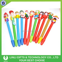 Colorful animal Soft PVC Ball Pen, Novel Pen