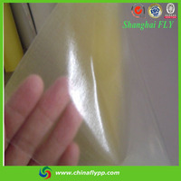 Shanghai FLY 60um PVC cold laminating film for print protection, english blue film