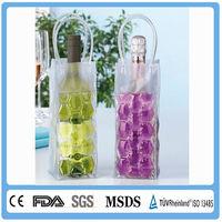 portable travel gift plastic ice wine cooler