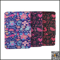 for ipad mini 2/3 folding leather standing case, painting leather cover for ipad Mini2 / 3