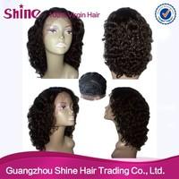 niche design Thick human hair wigs for white women