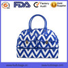 New Canvas Travel Tote Bag fashion chevron printing travel tote bag with leather handle