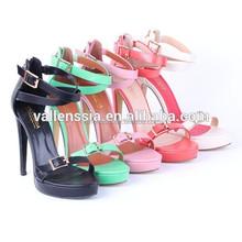 Hot Sales Platform High Heel Ladies Fancy Sandal Ladies Shoes Wholesalers