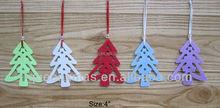Hot ! christmas hanging felt decor for tree ,custom order welcomed felt decor