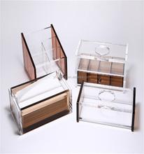 Dark Brown Acrylic Storage Box for Tissue