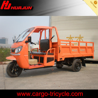 comfortable semi closed cabin tricycle with two passenger seats and good appearance