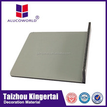 Alucoworld waterproof wood-plastic panel good quality excellent performance marble aluminum construction material