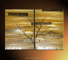 hot sell arts of modern abstract trees oil painting for decorative