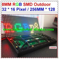 outdoor display for advertising led screen 512 x 512 dot matrix dual color led display sign