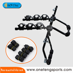3 Bicycles Trunk Mounted Bike Rack