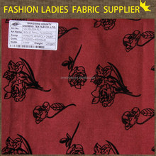 50%cotton/48%poly/2%sp,solid twill flocking cotton,shaoxingTextile colorful ,regular