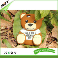 New products Teddy Bear cute animal silicone phone case for iPhone 6 6S