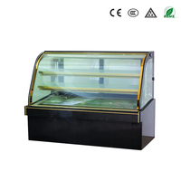 Guangzhou junjian refrigeration equipment air-cooled commercial marble curved glass refrigerated chocolate display case