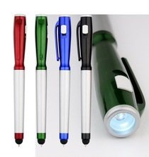 Fashion design promotional led torch metal light pen