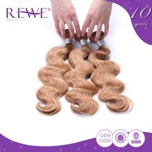 Custom Oem Colour Perfect Golden Wavy Brazilian Remy Hair Blonde Prices