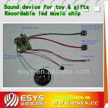 Voice record and playback music sound chip for toys