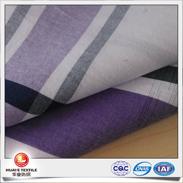 Space dying purple white plaid cotton poplin fabrics for for Space pants fabric