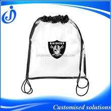 Clear PVC Plastic Drawstring Backpack