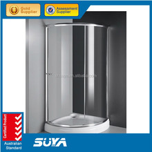 sus 304 stainless steel 10mm tempered glass shower cubicle