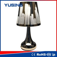 asian tube made in china 100-240v retro style stainless steel touch table lamp can't knock over