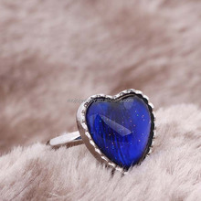 2015 Factory Wholesale Fashion 925 Silver Ring With Mood Stone