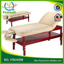 Wooden adjustable Portable Massage table/bed with durable pvc leather