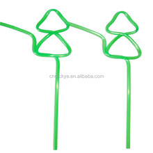 BPA free eco-friendly hard PVC animal shaped artistic straws