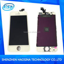 make in China full oem new workable mobile phone repair parts lcd display for iphone 5