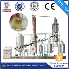 2015 Hot selling automatic oil distillation plant used change black engine oil to yellow color