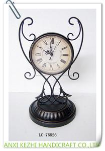 LC-76526 Antique En Métal Cadeau Piédestal Horloge De Bureau