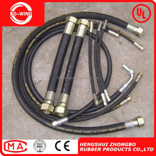 ISO&API certified Braid steel wire reinforced flexible rubber hose pipe / low price hydraulic hose / hydraulic rubber hose pipe