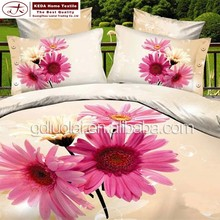 China wholesale flower printed home bedding 3d cotton bed sheet/comforter /bedding set