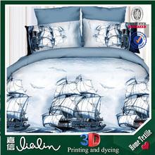 Bedding manufacturers Jiangsu china 3d printed bed sheet with fashion dress