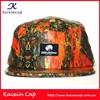 patterns leather fabric flat brim 5 panel snapback hat