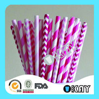 Hiuality Quality Pink Polka Dot Back To School Paper Straws