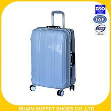 2016 fashion design of ABS +PC aluminium luggage with superlight wheels