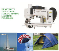 Prussia 366-320 hot sale heavy duty heavy thread 3 steps zigzag sewing machine for sail markers and repairer