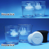 Polar Bear and Penguin Silicone Ice Cube Tray Mould Set (2pcs/set)