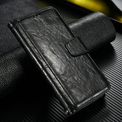 Customized Business style genuine Leather Flip Case for Samsung S6 edge