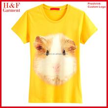 Women polyester t shirt custom 3d printing t-shirt brand